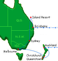 New Zealand, Australia, & Island Resort Stay [L05]